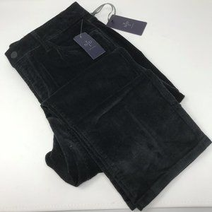 NYDJ size 10 black lightweight slim corduroy pants